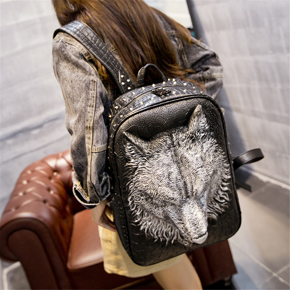EBACAD 3D Wolf Backpack Male Ladies Leisure Large Capacity Computer Shoulder  Bag Trend Knapsack Shopping Traveling Work Carrying-in Backpacks from  Luggage ... 0081c3571e
