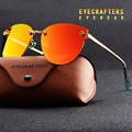 New Women Polarized Sunglasses Brand Designer Ladies Retro Cat Eye Sun Glasses Female Fashion Mirrored Eyewear Shades  Orange