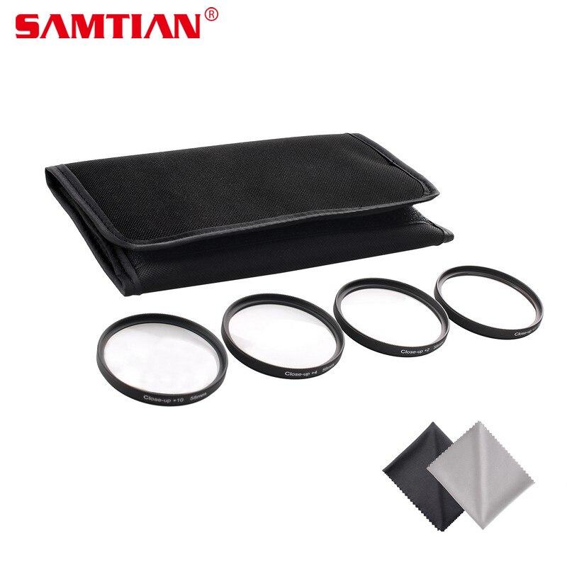 SAMTIAN 49MM 52MM 55MM 58MM 62MM 67MM 72MM 77MM Macro Close Up Filter Lens Kit +1 +2 +4 +10 for Canon EOS 700D 650D Rebel T5i T4