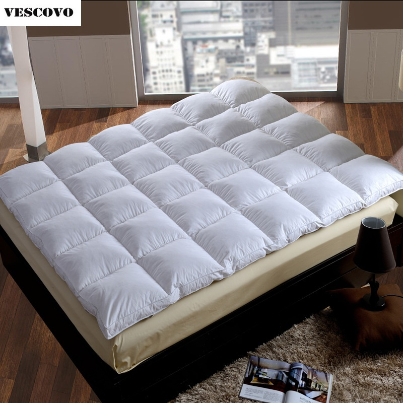 100% Goose Down Feather Beds Tatami Mats Star Hotel Mattress Pads Protector Cover Big Floor Bed Yoga Mats