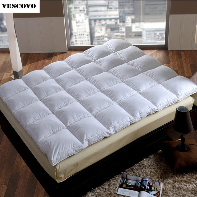 100 goose down Feather beds tatami mats star hotel mattress pads