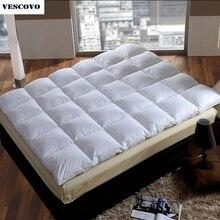 100% 羽毛ベッド畳スターホテルマットレスパッドプロテクターカバービッグ床ベッド yoga マット