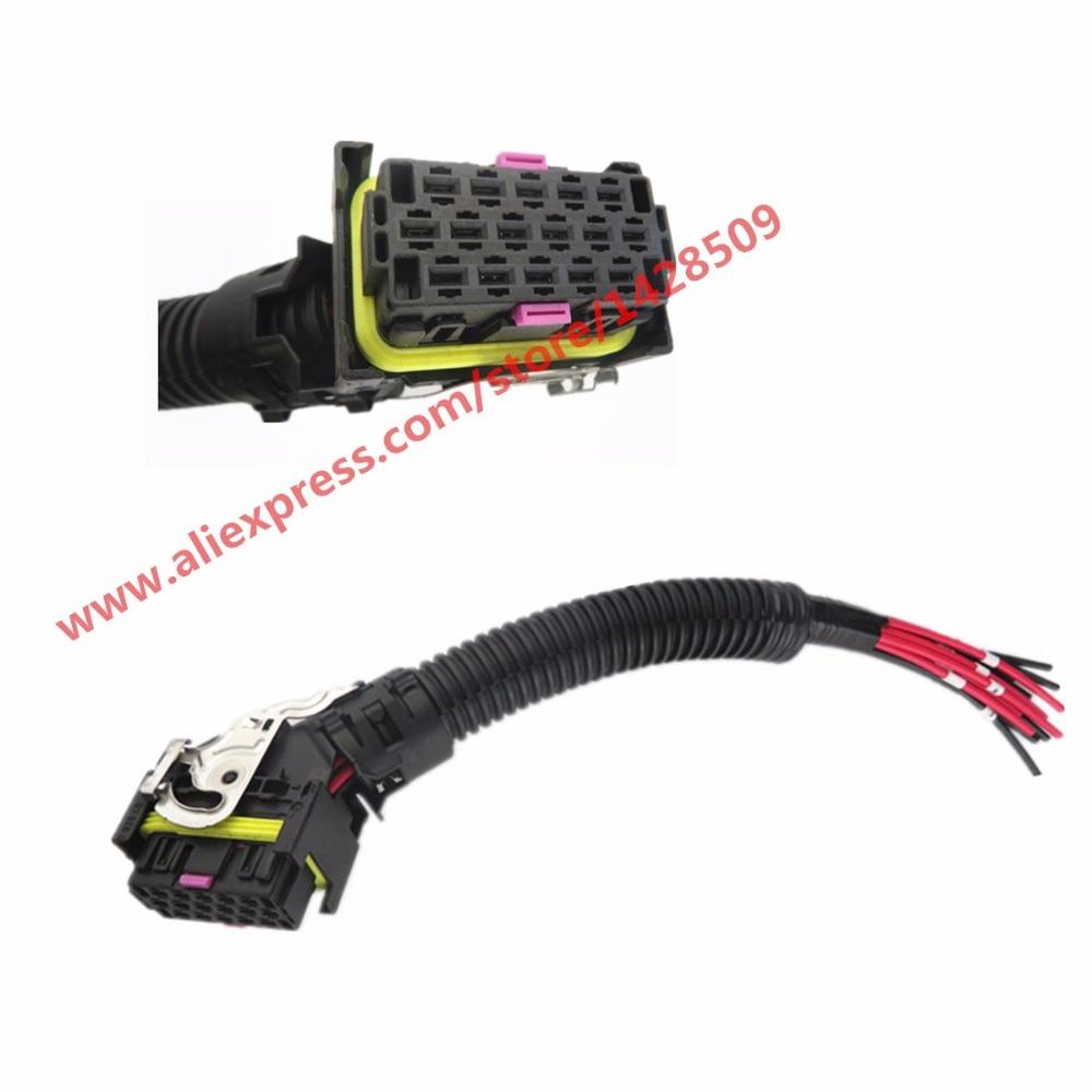 EDC7 16 Pins PC Board ECU Socket Automotive Injector Module Plug Wiring Connector For Bosch