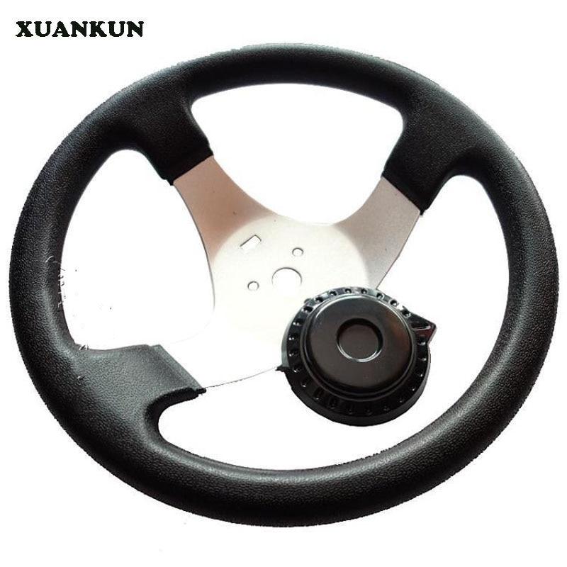 цены  XUANKUN Four Karting Modified Accessories Kart Steering Wheel 300MM Homemade Car Steering   Wheel