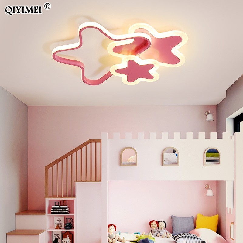 LED Chandelier Light Corridor Hallway Baby Room Bedroom New Modern Lamp With Remote Control White Pink Color Lustres Lampadario LED Chandelier Light Corridor Hallway Baby Room Bedroom New Modern Lamp With Remote Control White Pink Color Lustres Lampadario