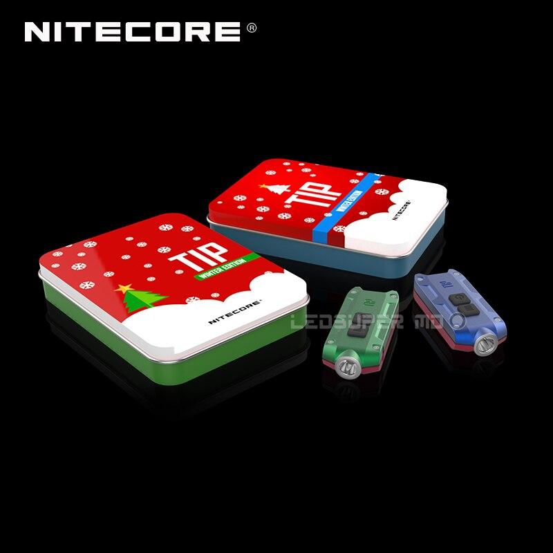 Original Nitecore pointe vacances cadeau ensemble USB Rechargeable porte-clés lumière
