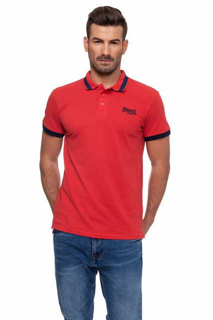 Lonsdale men   Polo   Manga Corta Pique Color True Red