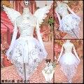 Cardcaptor Sakura kinomoto сакура косплей белый костюм звезда Свадебный костюм с крыла и перчатки