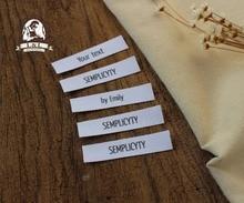 Custom Flat folding Tags / brand labels, Sewing Labels,Custom   Clothing Tags, Name Tags, Cotton Ribbon Tags цена в Москве и Питере