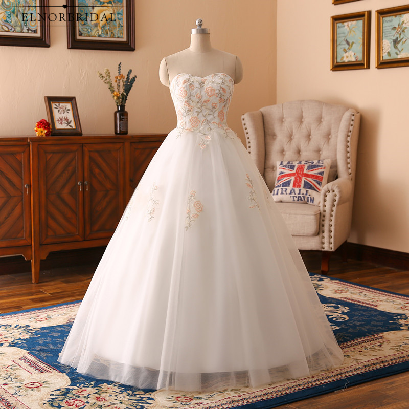 2019 New Tulle Ball Gown Wedding Dresses Sweetheart