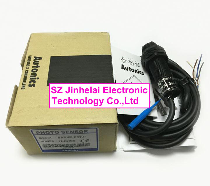 100% New and original  BRP100-DDT-P   AUTONICS  PHOTOELECTRIC SWITCH    12-24VDC e3x da21 s photoelectric switch