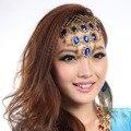 Acessórios de dança do ventre indiano acessório de cabelo dança acessórios peoperties headband faixas de cabelo dança hairpin