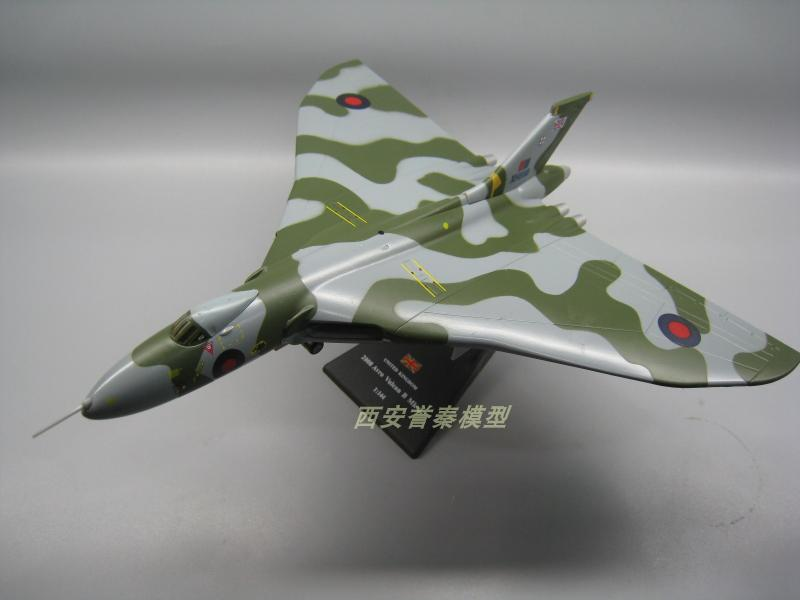AMER 1/144 Scale Military Model Toys UK Avro Vulcan Bomber Diecast Metal Plane Model Toy For Collection/Gift/Decoration