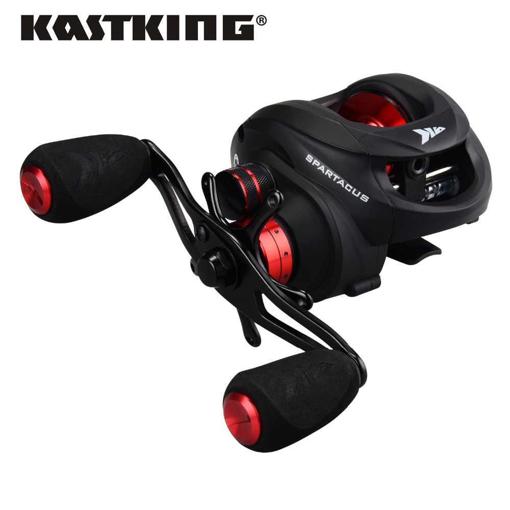 KastKing New Spartacus 4 Different Colors  6.3:1 Baitcasting Reel 11+1 BBs 8KG/17.5LB Drag Dual Brake System Fishing Reel