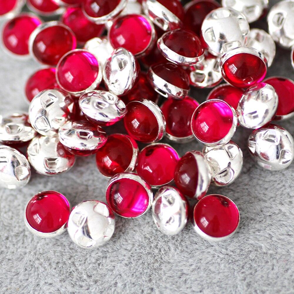 8mm 50pcs lot silver Plate Pink Sew on Rhinestone Beads 866447e88696