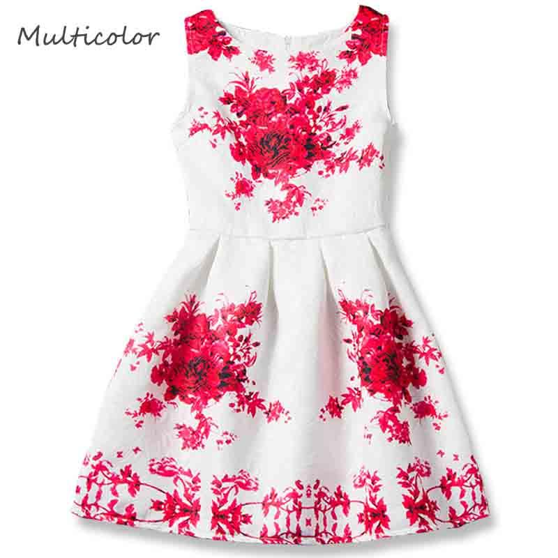 Filles Enfants Blanc Lacets Robe De Soirée Polka Dot Sans Manches 4 To 13 ans
