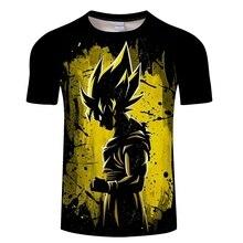 Dragon Ball Z Ultra instinto Goku Super Saiyan hombres camiseta 3D verano impreso pelota de dragón t camisa de los hombres tamaño asiático S-6XL