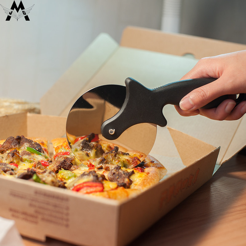 MeiJiaG Stainless Steel Cutter Round Pizza Knife Pastry Pasta Dough Kitchen Baking Tools