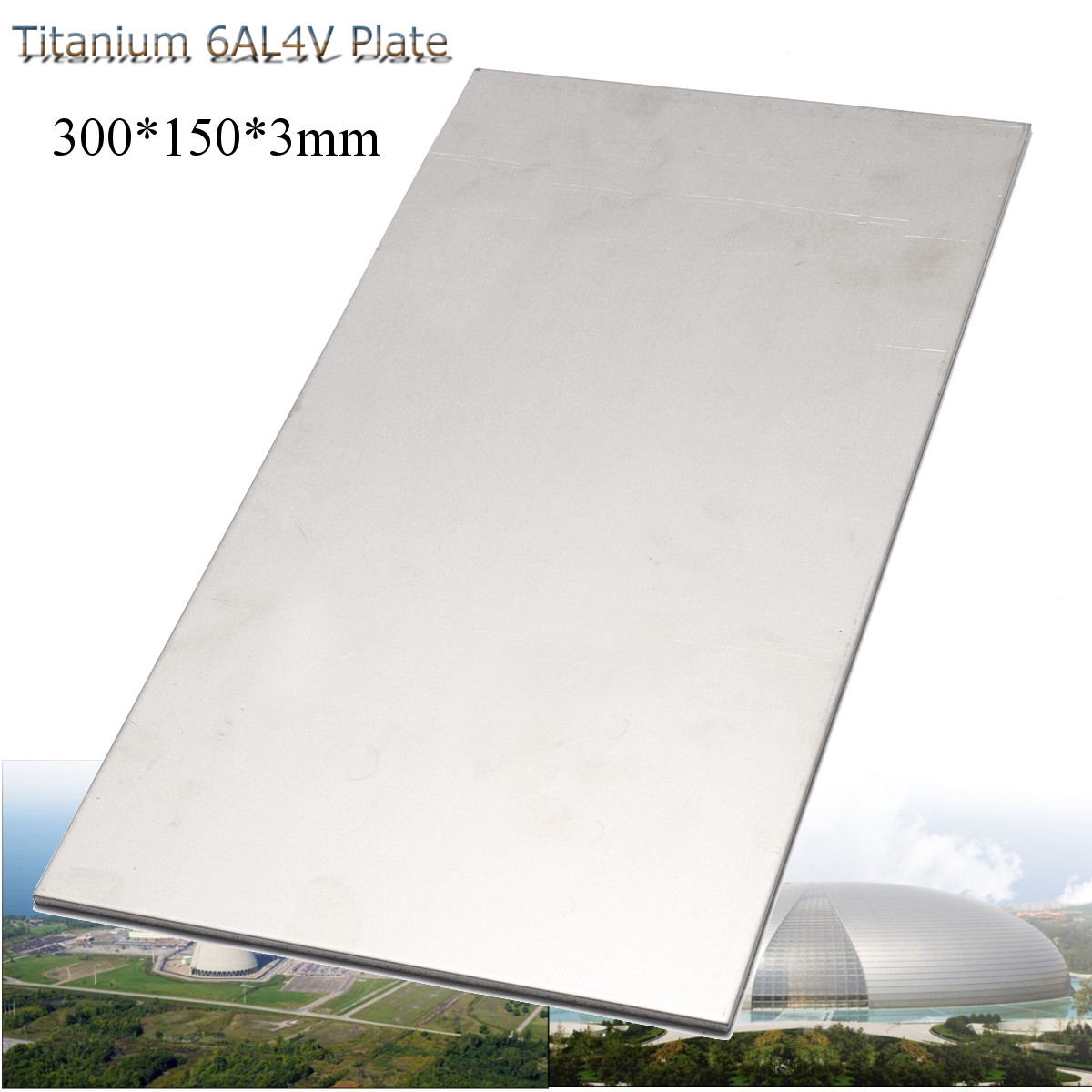 300X150X3mm Thick Titanium 6al-4v Sheet Grade Plate Titanium Metal Sheet Plate Silver Metalwoking Craft Titanium New