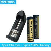 2Pcs 18650 3.7V 2400mAh Battery batteries lithium Li Ion Rechargeable Flashlight+18650 16340 14500 AA AAA universal charger
