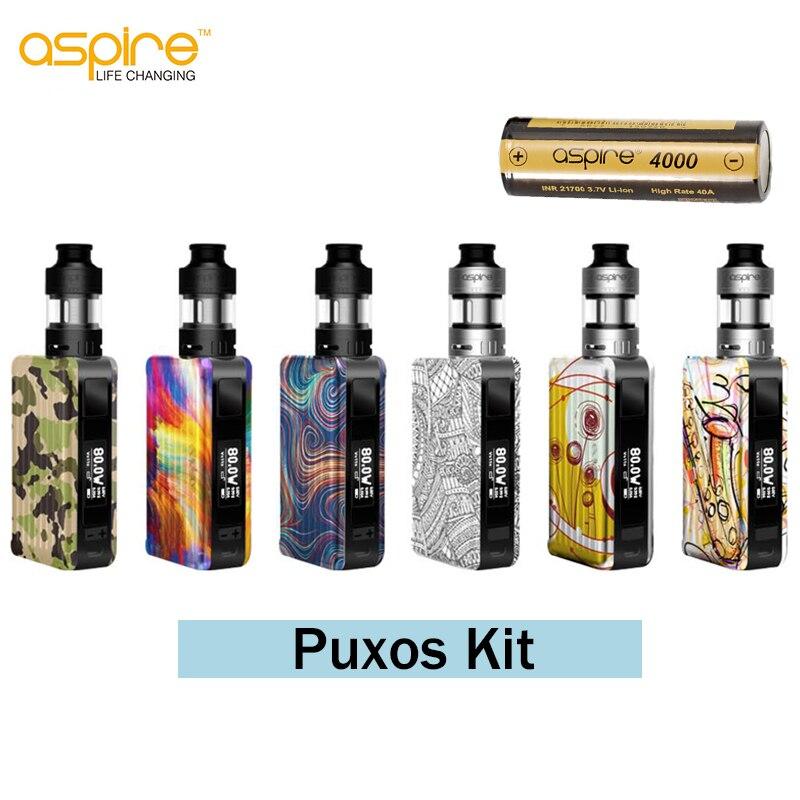 D'origine Aspire Puxos Vaporisateur Kit 3 ml Capacité Cleito Pro Réservoir Avec 21700 Batterie Inclus Vaporizador Électronique Cigarette kit