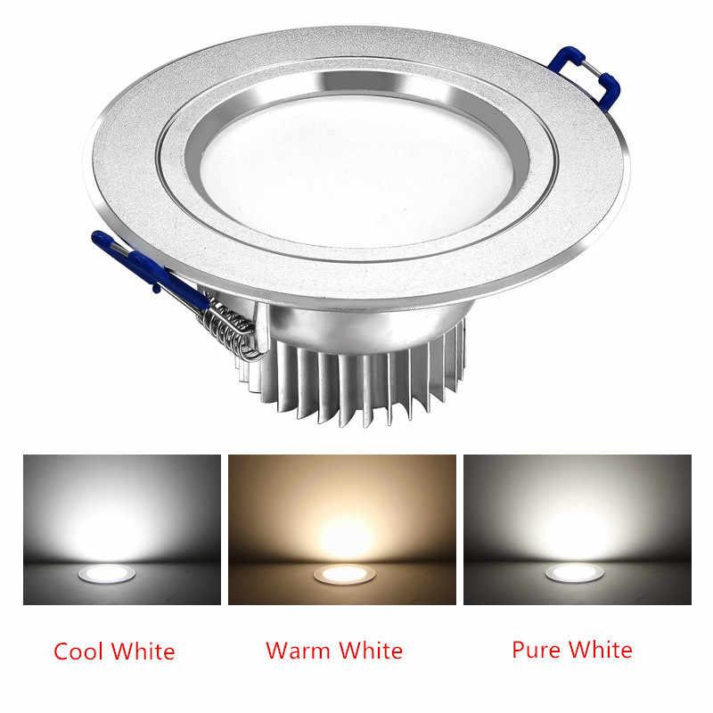 Оптовая продажа 3 Вт 5 Вт 7 Вт 12 Вт Светодиодный точечный светильник Epistar Светодиодный потолочный светильник Встраиваемый Точечный светильник AC220V 230V для домашнего освещения