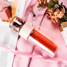 Little Bee Princess Glass Pink Girl Double Tea Bottle Borosilicate Kettle High-grade Teapot with Partition Cup