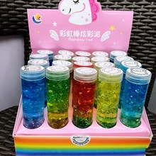 Brilliant Crystal Clay Plasticine Mud Blow Bubbles Rainbow Starry Sequins Colorful Pudding Pearl Toys for Children