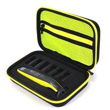 Etui Portable pour Philips OneBlade tondeuse rasoir et accessoires EVA sac de voyage Pack de rangement boîte couverture fermeture éclair pochette avec doublure