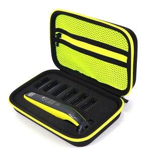 Image 1 - Etui Portable pour Philips OneBlade tondeuse rasoir et accessoires EVA sac de voyage Pack de rangement boîte couverture fermeture éclair pochette avec doublure