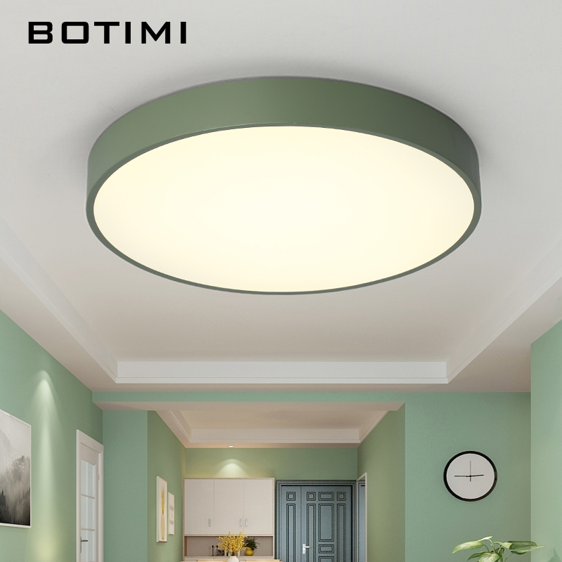 Fine Botimi New Design Led Ceiling Lights With Wood Frame For Bedroom 220v Modern Rooms Lighting Fixture White Round Ceiling Lamp A Great Variety Of Models Ceiling Lights
