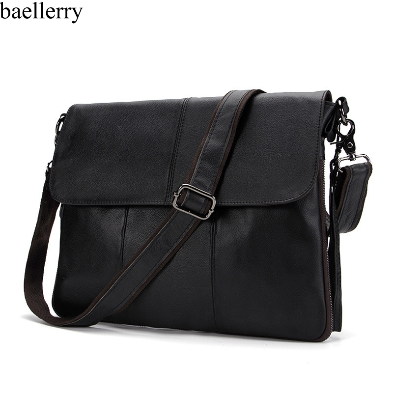 European Genuine Leather Men Bag Men Briefcases Male Leather Business Computer Laptop Bags Crossbody Bags Mens Messenger Bag
