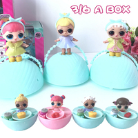 3 6 Pcs 9cm Surprise Doll Magic Funny Removable Egg Ball Doll Surprise Doll For Kids