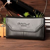 Gold Coral Genuine Leather male Fanny Waist Belt Bag Casual Hip Bum Small Bag Male Famous Cell/Mobile Phone Case Purse Bags #243