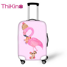 Thikin Flamingo Travel Luggage Cover for Girls Candy Color School Trunk Suitcase Protective Bag Protector