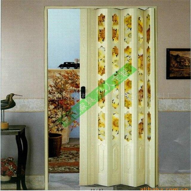 bescherming van het milieu materiaal deluxe kamer deur pvc vouwdeur ...