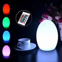 D14*H19cm Romantic Table LED Lamps 24key Remote Control Multi Colour Changing Bar Dining Room Bedroom Decoration LED Egg Light