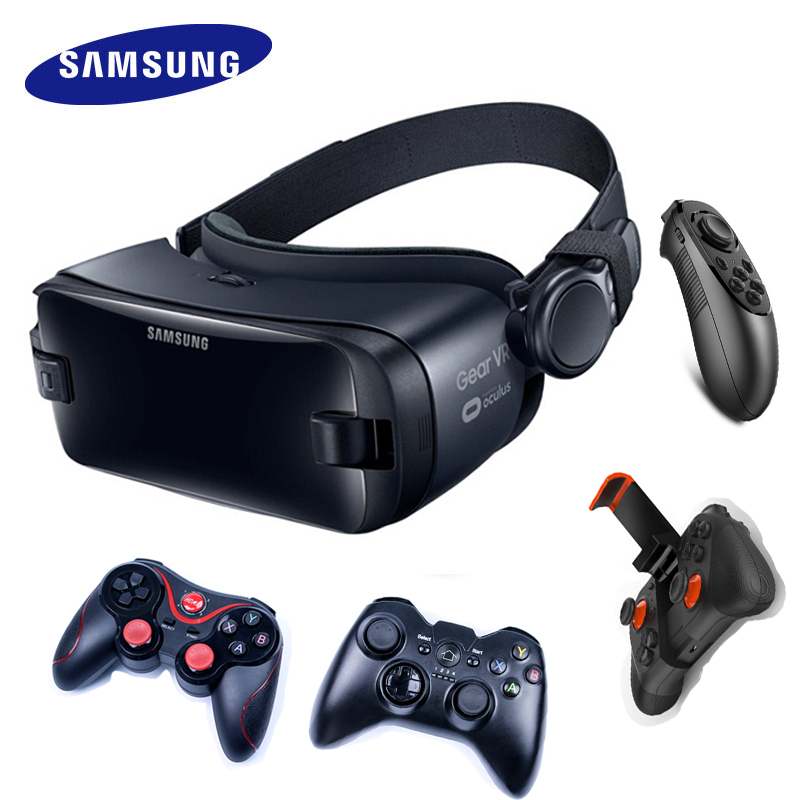 Gear VR 5.0 3D Glasses Samsung VR 3D Box For Samsung Galaxy S8 S8+ Note7 Note 5 S7 S9 Smartphones With Bluetooth Controller 1
