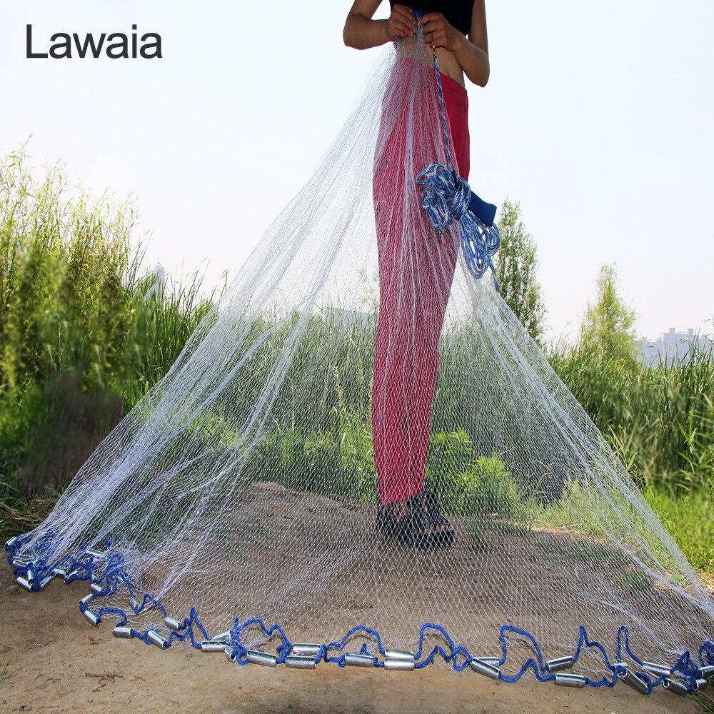Lawaia American Hand Cast Net Diametrs 2,4 - 7,2 m Zvejas tīkls 4.2m - Makšķerēšana - Foto 1