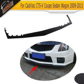 Black PU Front Lip Spoiler car Front bumper lip For Cadillac CTS-V Coupe Sedan Wagon 2009-2013 image