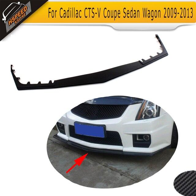 Black PU Front Lip Spoiler Car Front Bumper Lip For