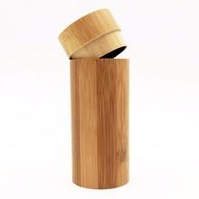 Free shipping 10pcs/lot Fashion Original Round Bamboo Sunglasses Case Wood Sun glasses Box Spectacle Eyeglasses Case