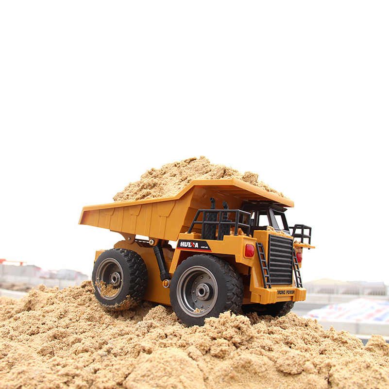 RC Car Alloy Engineering Vehicles Remote Control Toys Car Electric Remote Dump Truck Excavator RC Toys LED Searchlight