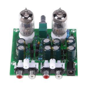 Image 2 - Комплект Усилителя трубки Hi Fi стерео электронная трубка предусилитель Плата усилителя модуль усилителя элементы для усилителя батареи готовый продукт