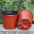 Behogar 200 шт пластиковые цветочные горшки macetas садовые растения питомник горшок контейнер цветочный горшок для плантаторов овощи растущие тра...