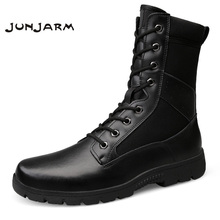JUNJARM Army Boots Men's Military Desert Tactical Boot Shoes Winter Breathable Combat Men Ankle Boots Botas Tacticos Zapatos