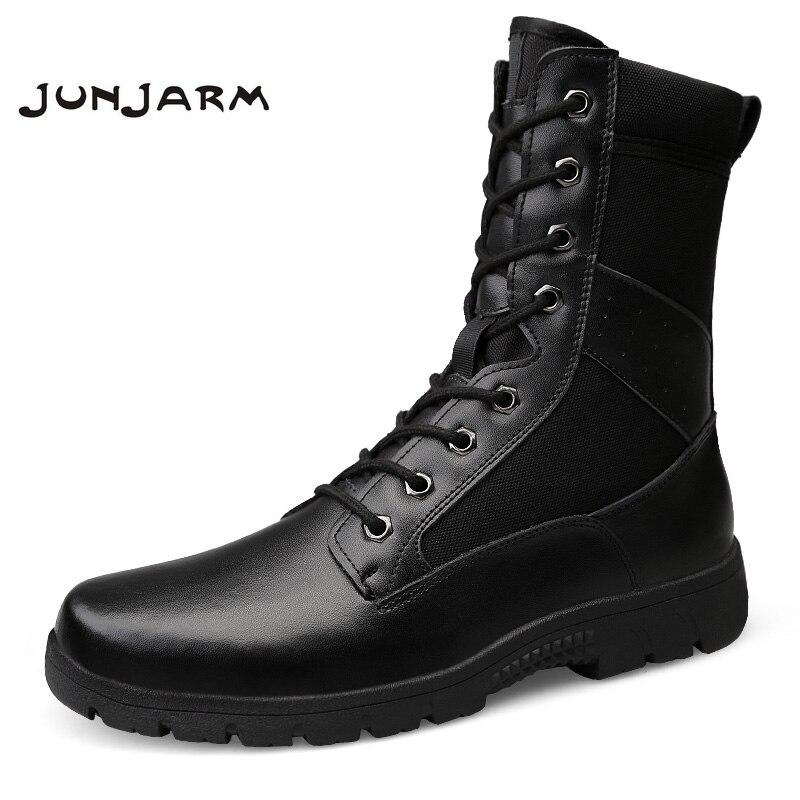 Junjarm Tacticos De black Deserto Bota With Sapatos Tático Fur Homens Inverno Dos Botas Exército Respirável Tornozelo Combate Black Zapatos Militar rTZBrA