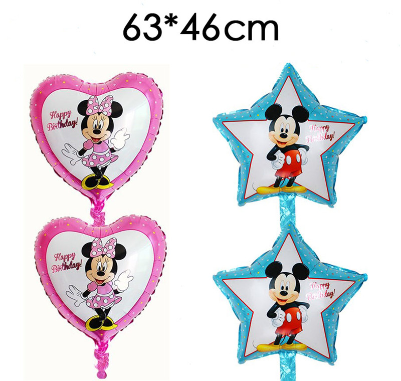Toys & Hobbies 13pcs Minnie Mickey Mouse Theme Party Decoration Combination Latex Foil Balloons Happy Birthday Party Balloons Baby Cartoon Hat