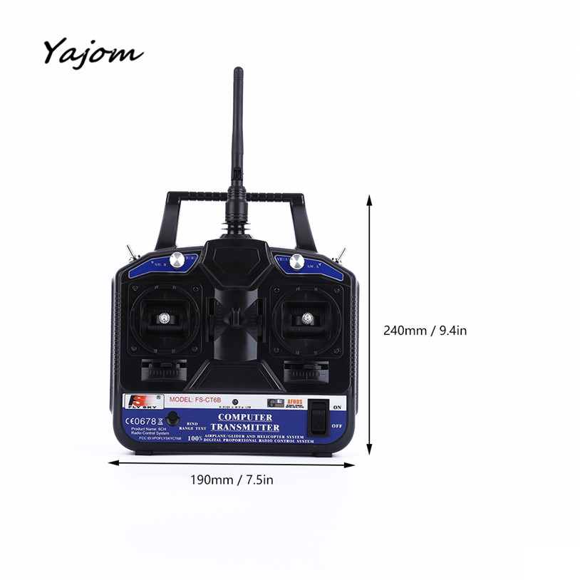 Free for shipping FLY SKY 2.4G FS-CT6B 6 CH Channel Radio Model RC Transmitter Receiver Control High Quality May 10 new hot sale fly sky 2 4g fs ct6b 6 ch channel radio model rc transmitter receiver control dorp shipping