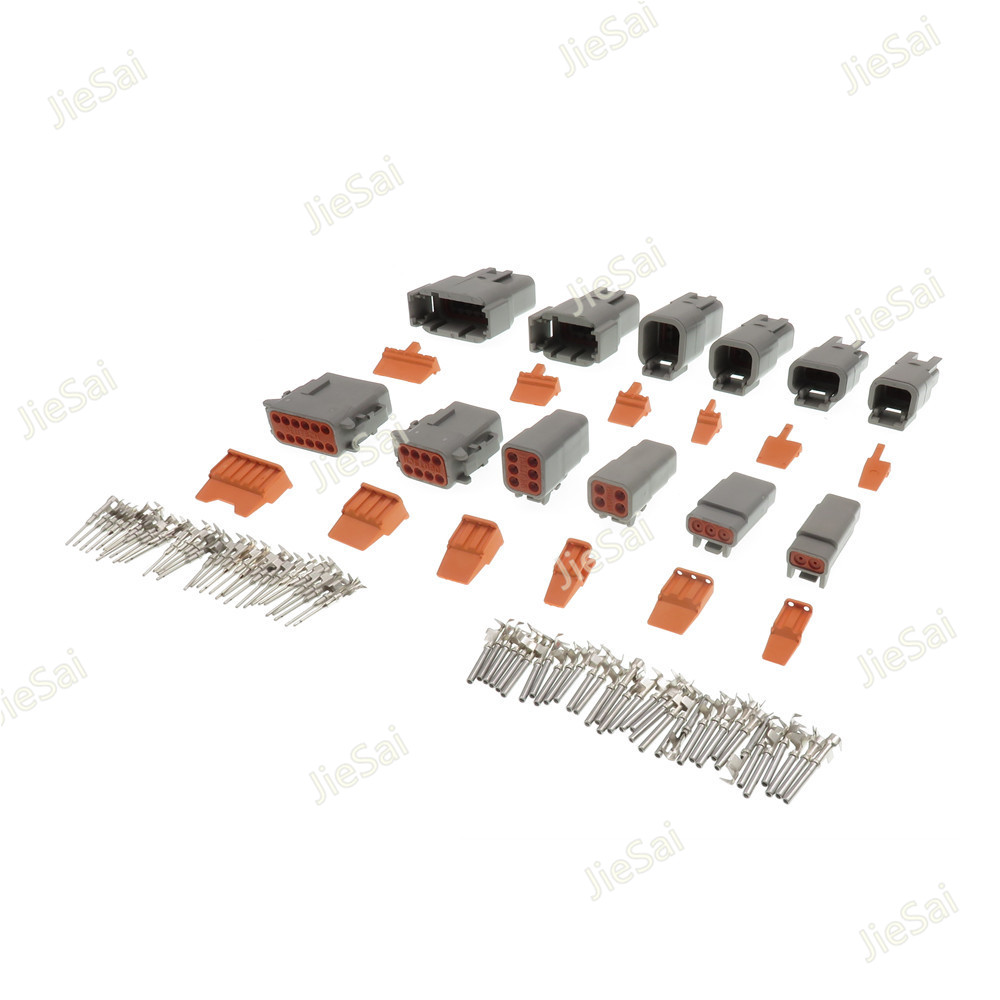 Deutsch DTM 2/3/4/6/8/12P Male Female Auto Waterproof Connector With Pins/Terminals Automotive Sealed Plug